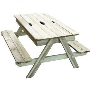 Trigano Table picnic enfant avec bac à sable intégré