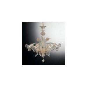 Ideal lux Suspension Rialto 5 ampoules en laiton et verre