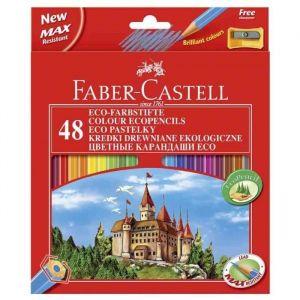 Faber-Castell Crayons de couleur Hexagonal Eco - Etui de 48