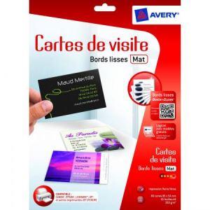 Avery-Zweckform 80 cartes de visite 260 g/m2 (54 x 85 mm)
