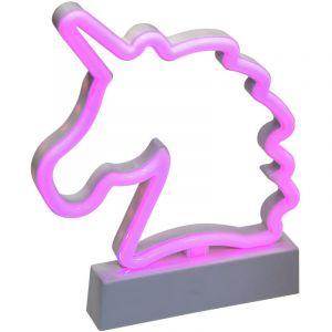 "Décoration L ineuse Led ""Licorne"" 22cm Rose Prix"