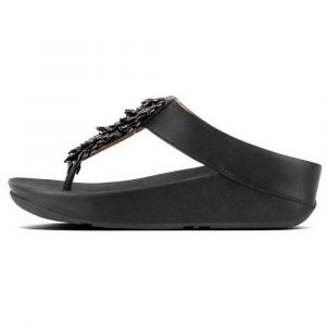 FitFlop Tongs CHA-CHA TOE-THONG SANDALS CRYSTAL Noir - Taille 36,37,38,39,40,41