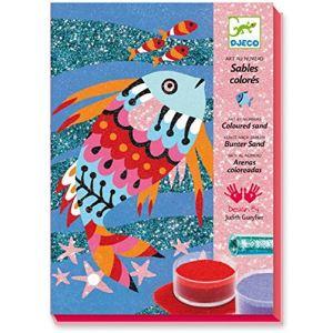 Djeco Sable colorés : Arc-en-ciel de poissons