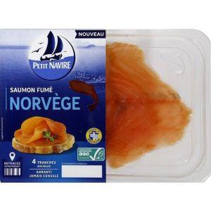 Petit Navire Saumon fumé de Norvège - Les 4 tranches, 120g