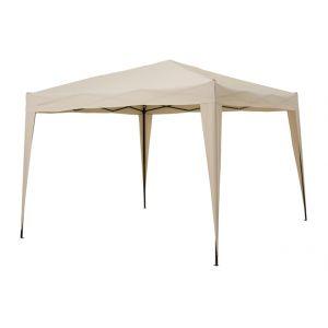 Pegane Tonnelle pliable sable en aluminium et polyester 3 x 3 m