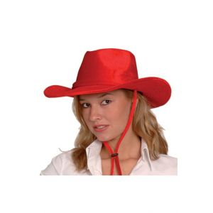 Smiffy's CHAPEAU COW-BOY VELOURS ROUGE