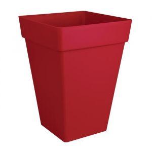 Loft URBAN Pot de fleur carré haut - 30 x 30 cm - Fruits rouges - Résistant au gel - Résiste aux chocs - Pratique avec des animaux de compagnie ou des enfants