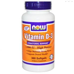 Now Foods Vitamine D-3 - 360 gélules liquides
