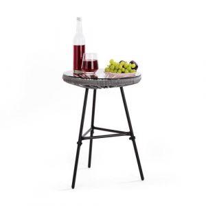 Blumfeldt Las Brisas T table de jardin design rétro cannage 4 mm grise