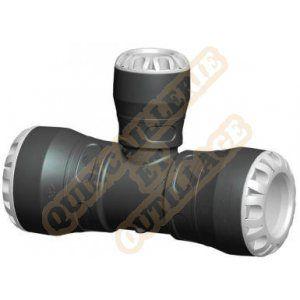 Plasson Té réduit 90° encliquetable Ø32x25x32 tube PE - Série 1