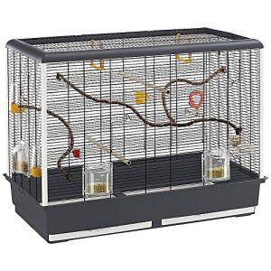 Ferplast PIANO 6 Grande cage pour canaris, perruches et petits oiseaux . Variante PIANO 6 - Mesures: 87 x 46,5 x h 70 cm -