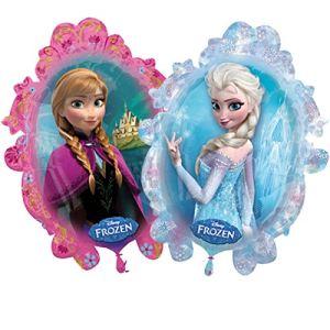 Ballon en aluminium Reine des Neiges : Anna et Elsa