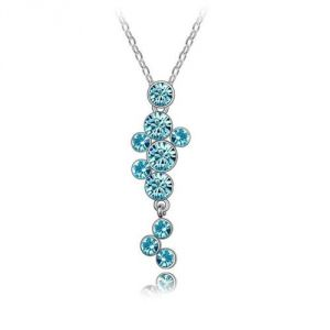 Blue Pearls Cry B201 W - Collier cascade en Cristal de Swarovski Elements