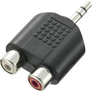 Speaka professional Adaptateur Y 325097 [1x Jack mâle 3.5 mm - 2x Cinch / RCA femelle] 0 m noir