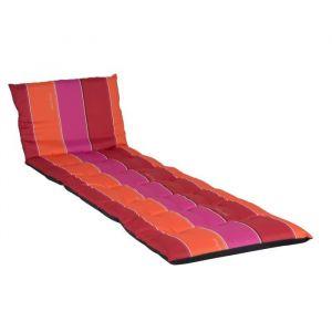Jardin prive Coussin pour bain de soleil 100% coton 190x56cm J ADORE Rouge