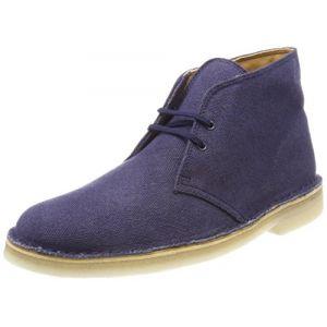 Clarks Desert Boots Homme, Bleu (Navy Fabric), 43 EU