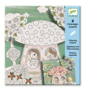 Djeco 8 coloriages surprise : Poucette