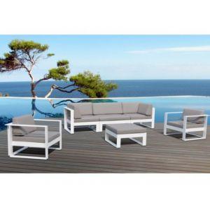 Delorm Design St Tropez - Salon de jardin en métal et tissu 5 places