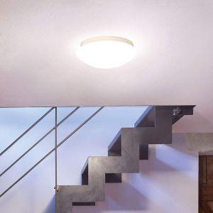 Steinel RS 16 LED Glas 035105 Plafonnier LED avec détecteur de mouvements EEC: LED (A++ - E) 9.5 W blanc chaud blanc