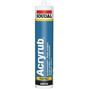 Soudal Acryrub matériau d'étanchéité acrylique 310ml blanc (Par 15)