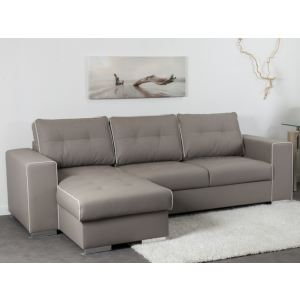 Canape Convertible Taupe Cuir Comparer Offres - Canape taupe cuir