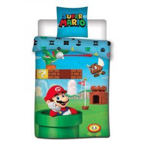 Super Mario Nintendo - Parure de Lit - Housse de Couette Coton