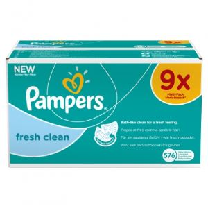 Pampers Lingettes Fresh Clean (Méga 9 x 64)
