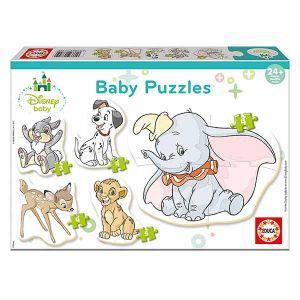 Educa Mickey Top Départ Baby Disney Animaux 5 Puzzles, 17755