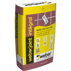 Weber Mortier pour joints de carrelage JOINT INTEGRAL - Sac de 25 Kg - GRIS GRANIT E10