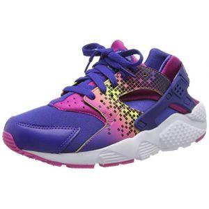Nike Chaussures enfant Huarache Run Print Gs 704946-500 violet - Taille 38,38 1/2