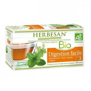 Herbesan Infusion digestion facile saveur menthe n°3 (20 sachets)