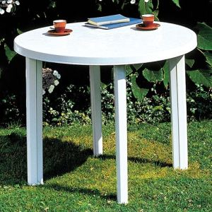 Progarden Table de jardin ronde Tondo en polypropylène Ø 90 cm