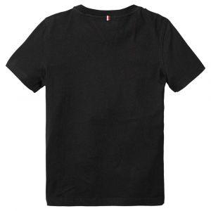 Tommy Hilfiger Basic CN Knit S/s T-Shirt, Noir (Meteorite 055), 140 (Taille Fabricant: 10) Garçon