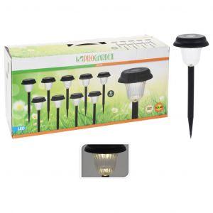 Progarden Lampes solaire de jardin à LED 9 pcs Noir