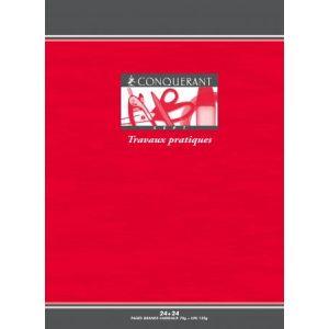 Conquerant 100101805 - Cahier Sept T.P. piqué A4 48p./24 feuilles 70/120g/m², Séyès/uni