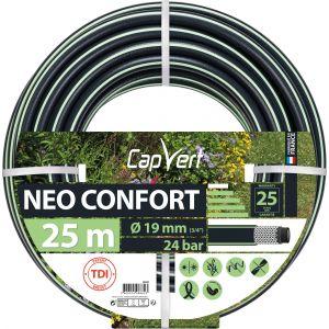 Cap Vert Tuyau d'arrosage Néo Confort - Diamètre 19 mm - Longueur 25 m
