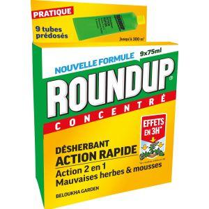 Roundup Désherbant Polyvalent Rapide Tubes Pré-dosés, x9