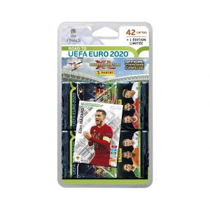 Panini 42 Cartes ADRENALYN XL Road To UEFA Euro 2020 + 1 Carte en édition limitée