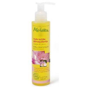 Melvita Nectar de roses - Huile lactée démaquillante