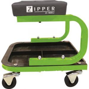 Zipper Tabouret mobile d'atelier avec 3 plateaux pour outils ZI-MHK2