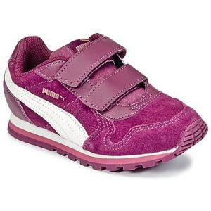 Puma St Runner SD V PS, Sneakers Basses Mixte Enfant, Violet (Dark Purple-Marshmallow), 35 EU
