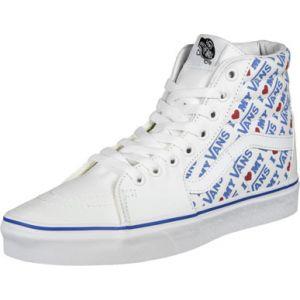 Vans Chaussures I Heart Sk8-hi ((i Heart True White/true White) Femme Bleu, Taille 37