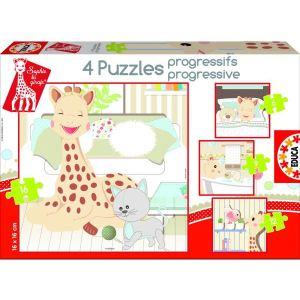 Educa Puzzle progressif - Sophie la girafe 6, 9, 12 et 16 pièces
