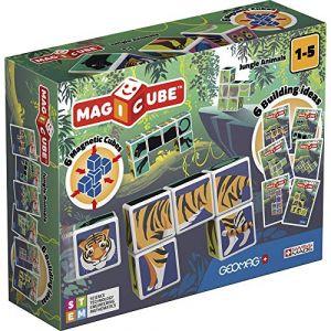 Geomag MagiCube Jungle Animals junior 12 pièces