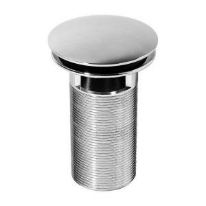 Wirquin Bonde lavabo Quick-Clac laiton 100mm - En laiton chromé Quick-Clac 100 mm pour vasque avec trop-plein posée sur plan - S'ouvre et se ferme d'une simple pression sur le clapet - Se visse et se dévisse par le dessus (maintenance facile)