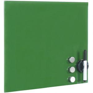 wiltec Tableau magnétique en verre Mémo board Vert Tableau aide-mémoire 45x45cm