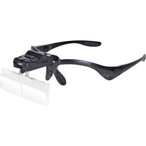 Toolcraft Loupe frontale avec éclairage LED, avec clip, avec éclairage Facteur de grossissement: 1 x, 1.5 x, 2 x, 2.5 x, 3.5 x 450989 450989