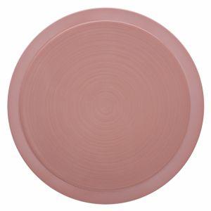 Guy Degrenne Assiette plate ronde 29cm rose sable en grès - A l'unité - Bahia