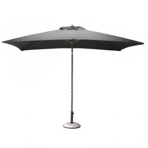 Proloisirs Parasol rectangulaire inclinable en aluminium (3 x 2 m)