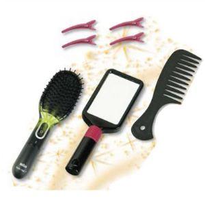 Klein Brosse à cheveux et miroir Satin Hair 7 Braun